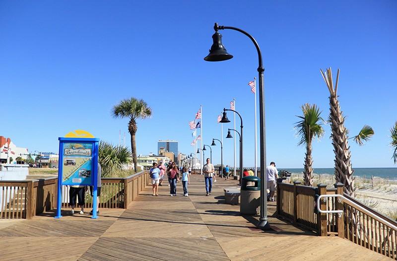 Myrtle Beach Boardwalk Take A Slow Relaxing Walk Along The